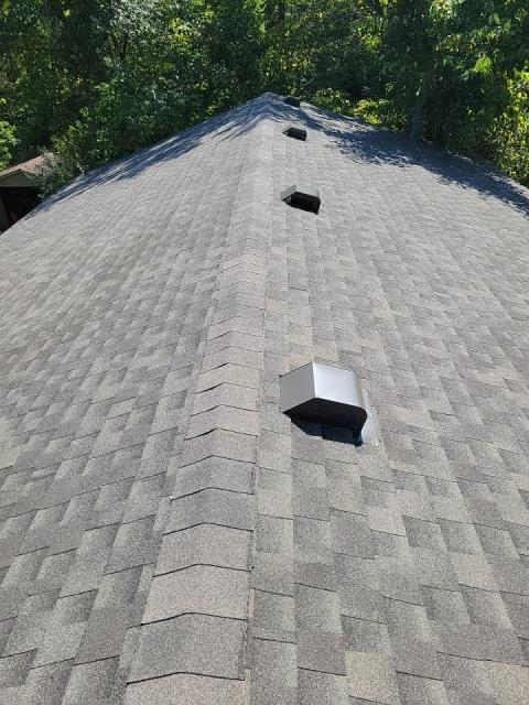 East Bethel, MN - New GAF Timberline roof today Color- Weathered Wood