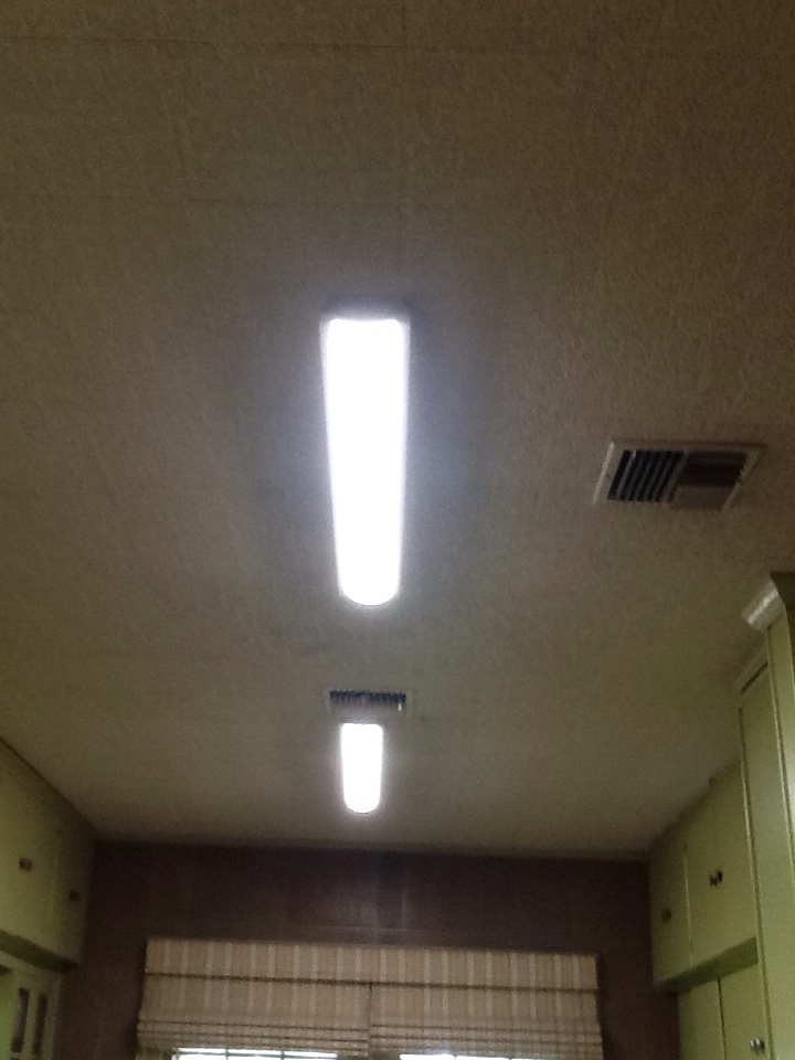 Duson, LA - Replace two fluorescent lights with new 4 foot led light fixtures.