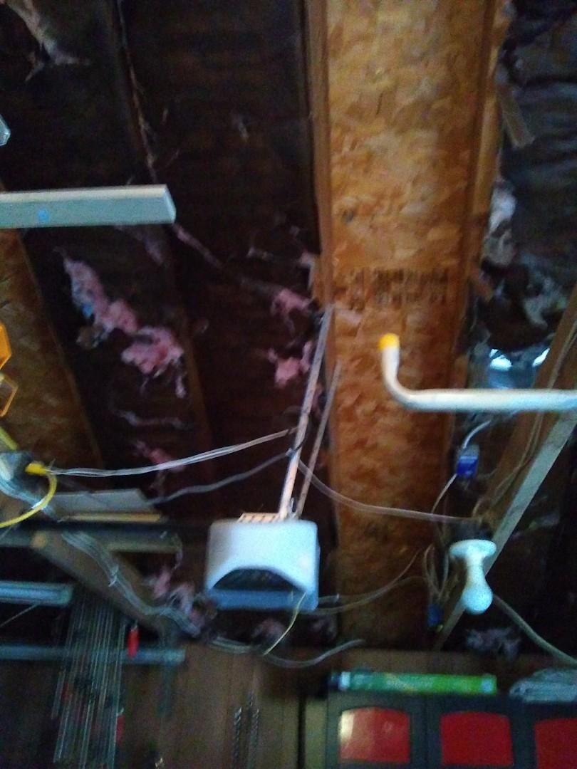 I evaluated a garage for spray foam insulation.