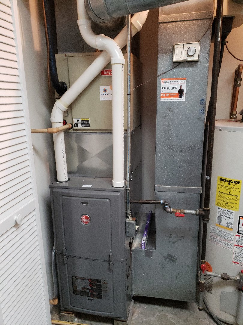 Installing 95% high efficiency furnace.
