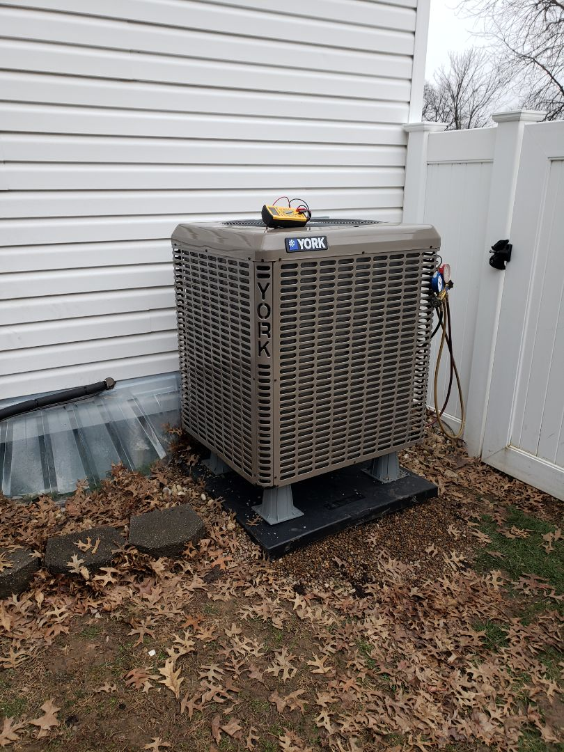 Finished installing a high efficiency heat pump