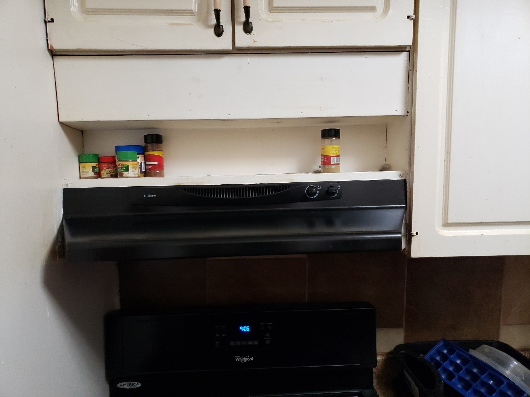 Replacing a old broken stove vent hood