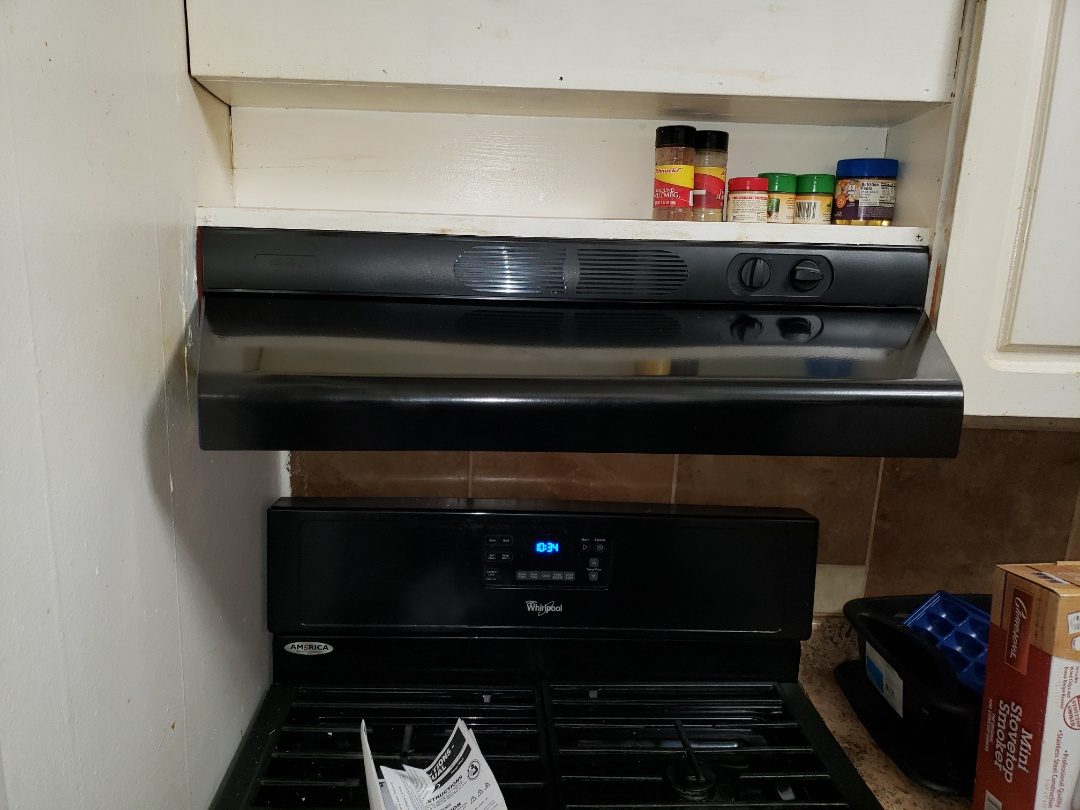 Finished installing a new kitchen stove hood vent