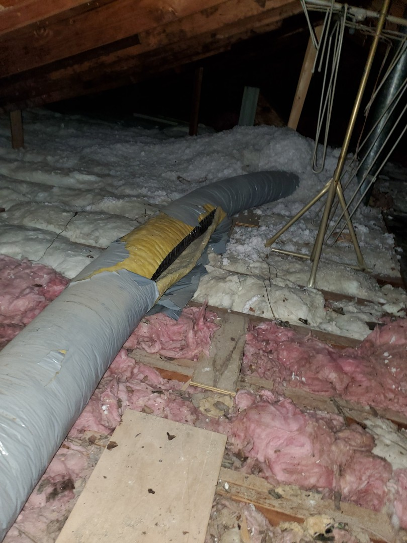 Working with a homeowner to provide a ductwork repair and attic installation quote.