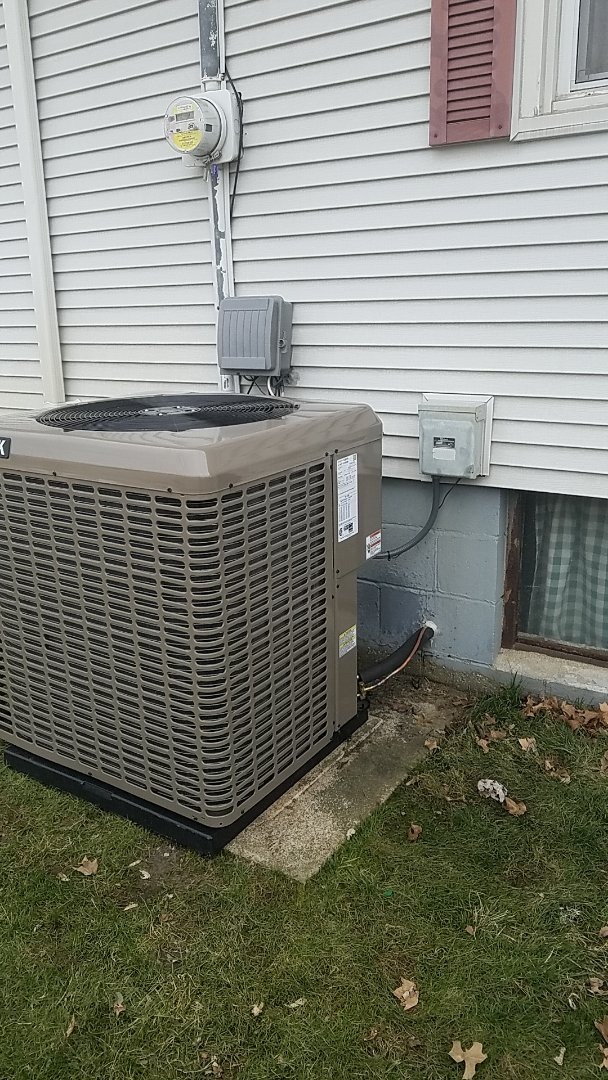 Installed new High Efficiency York A/C
