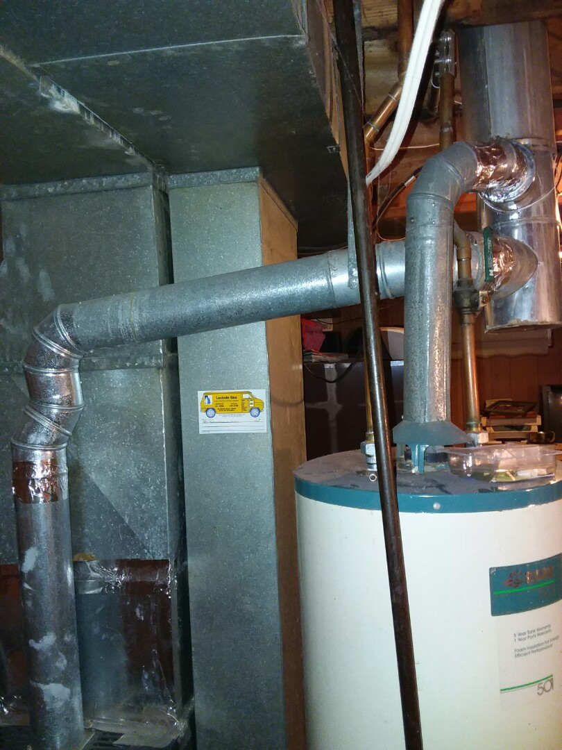 Re-light a Rheem water heater for an existing customer in East St.Louis