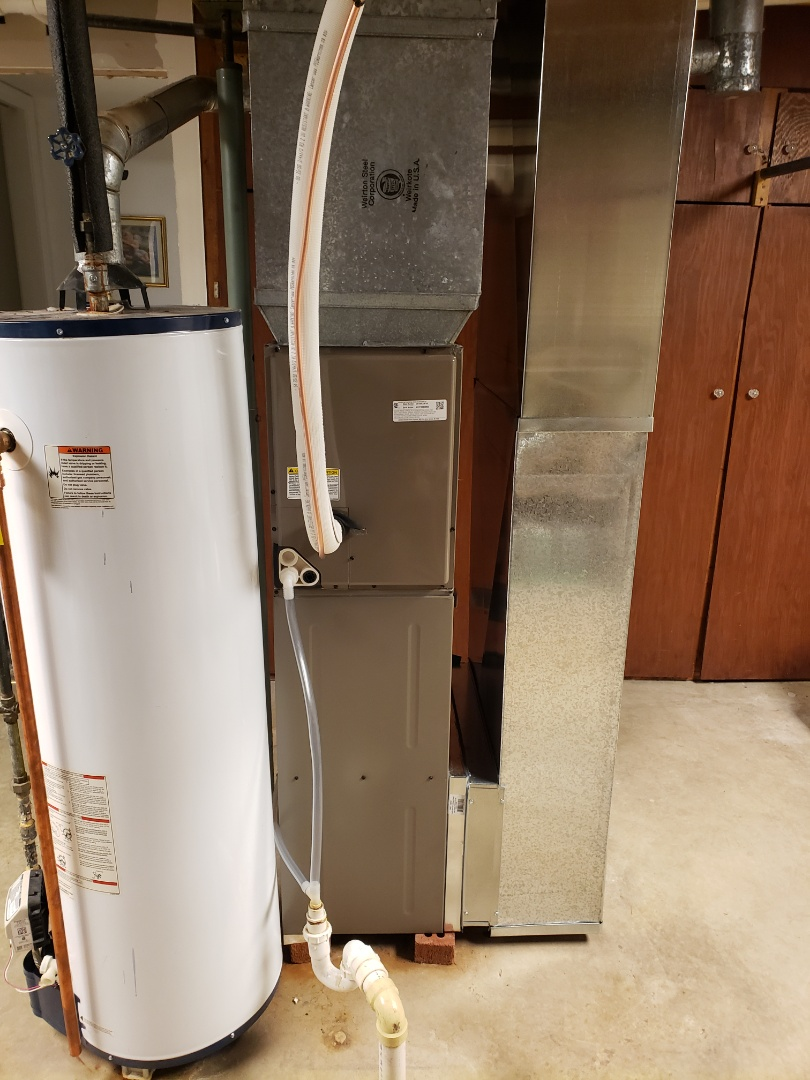 Finished installing a new york furnace and air conditioner