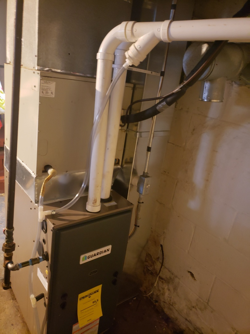 Finished installing a new high efficiency gas furnace