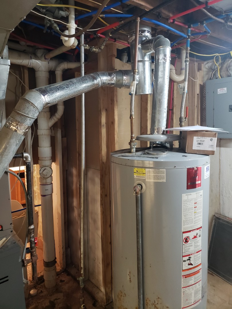 Finished repairing a 75 gallon water heater , replaced control valve