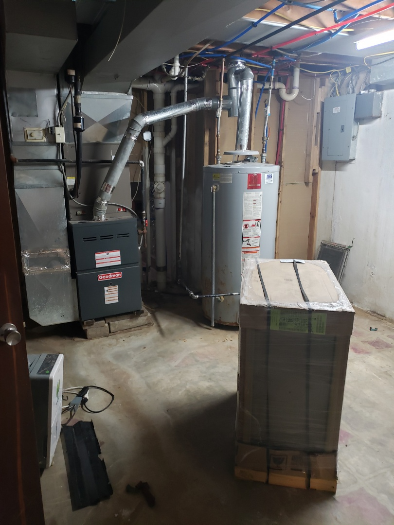 Finished prep work for s new furnace install