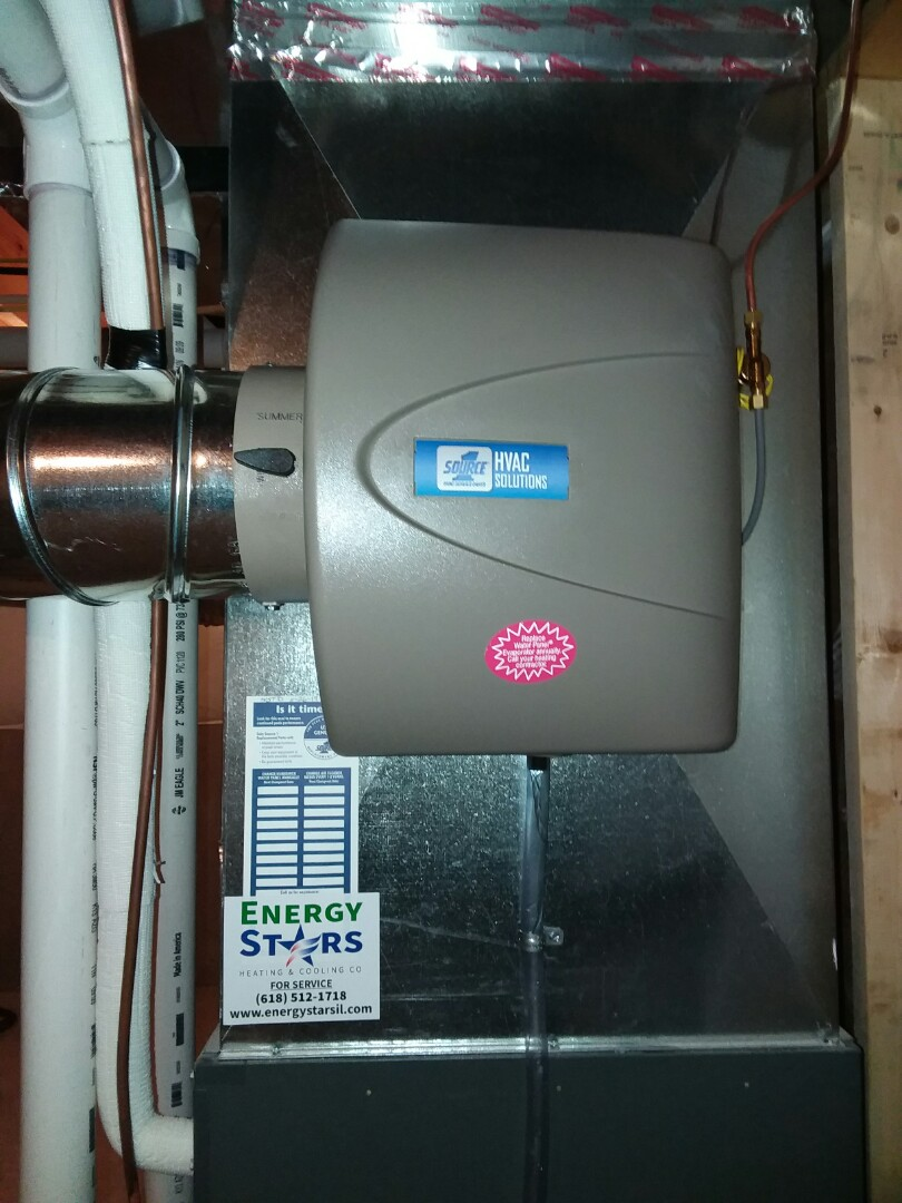 Repairing a Humidifier for a customer in East Alton, ill.