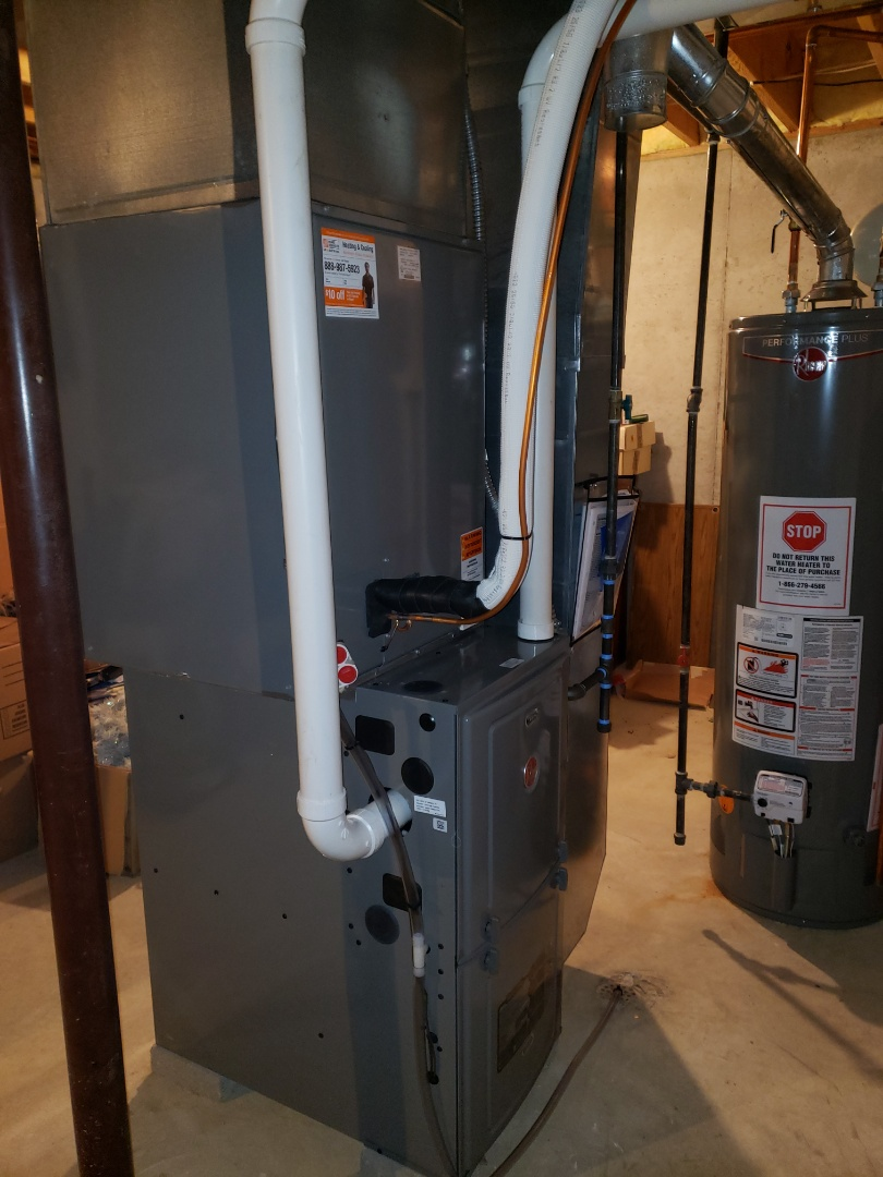 Installing 95% high efficiency furnace and A/C.