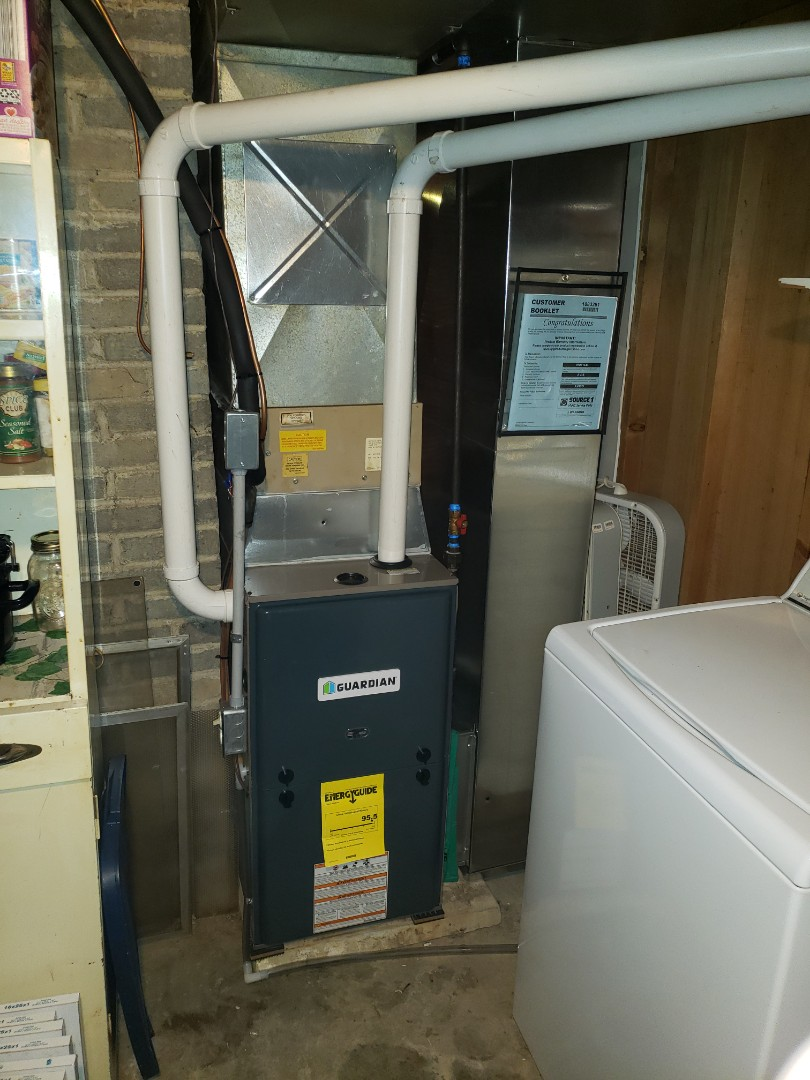 Finished installing a new high efficiency furnace