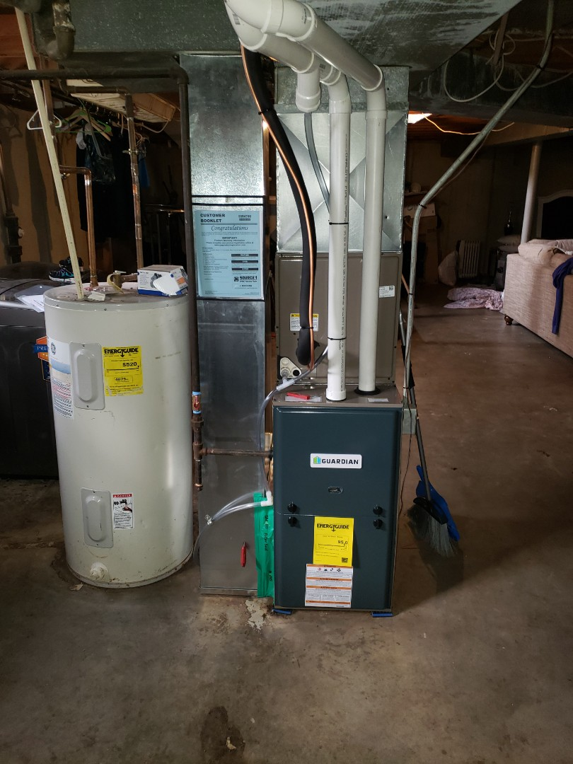 Finished installing a new high efficiency heating and cooling system