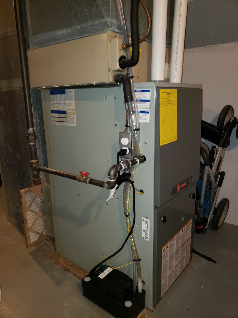 Finished installing a  condensate pump and water heater repair