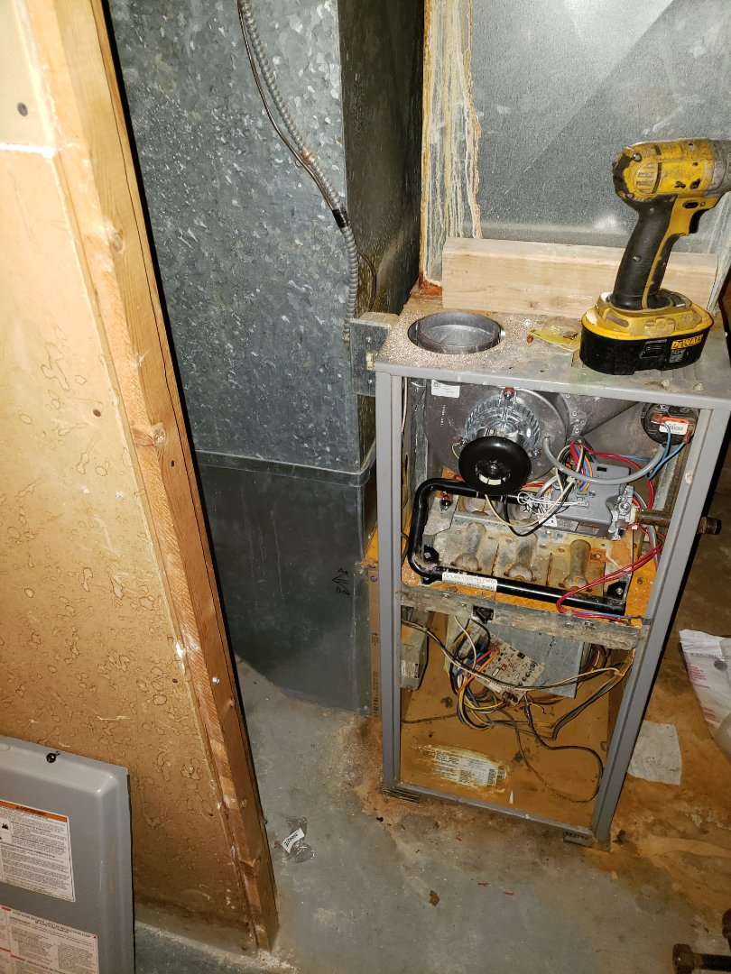 Replacing a old nonfunctioning heating and cooling system