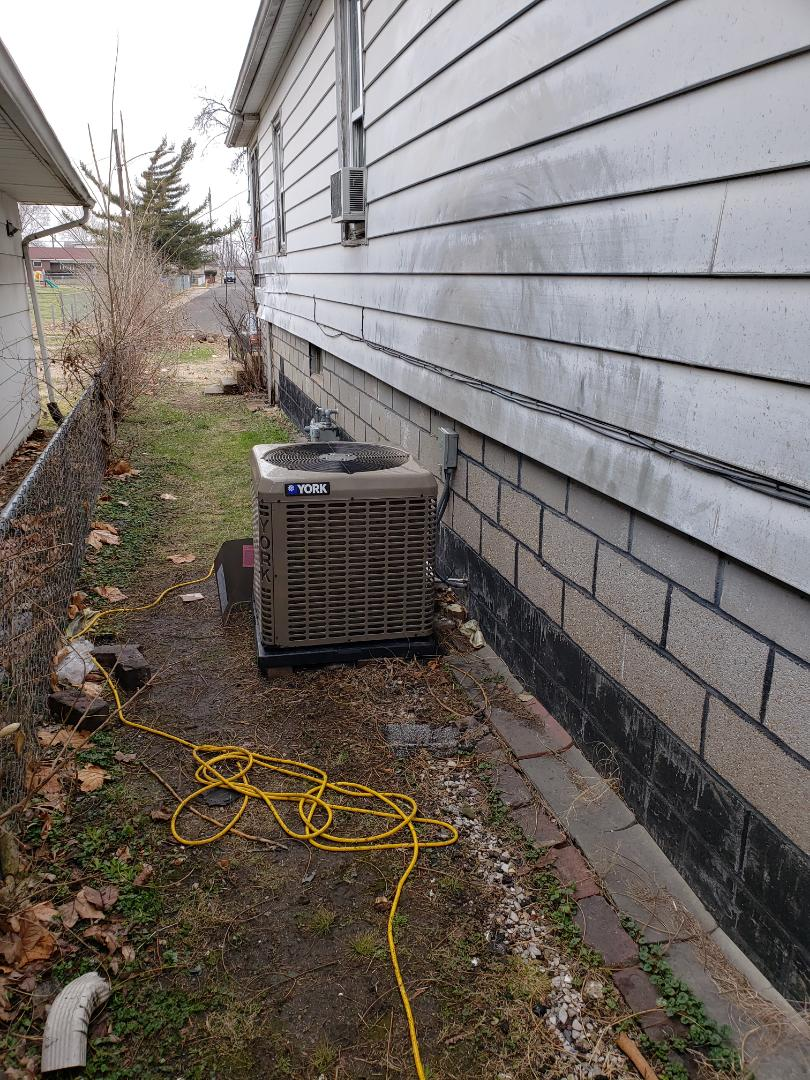 Finished installing a new york air conditioning system