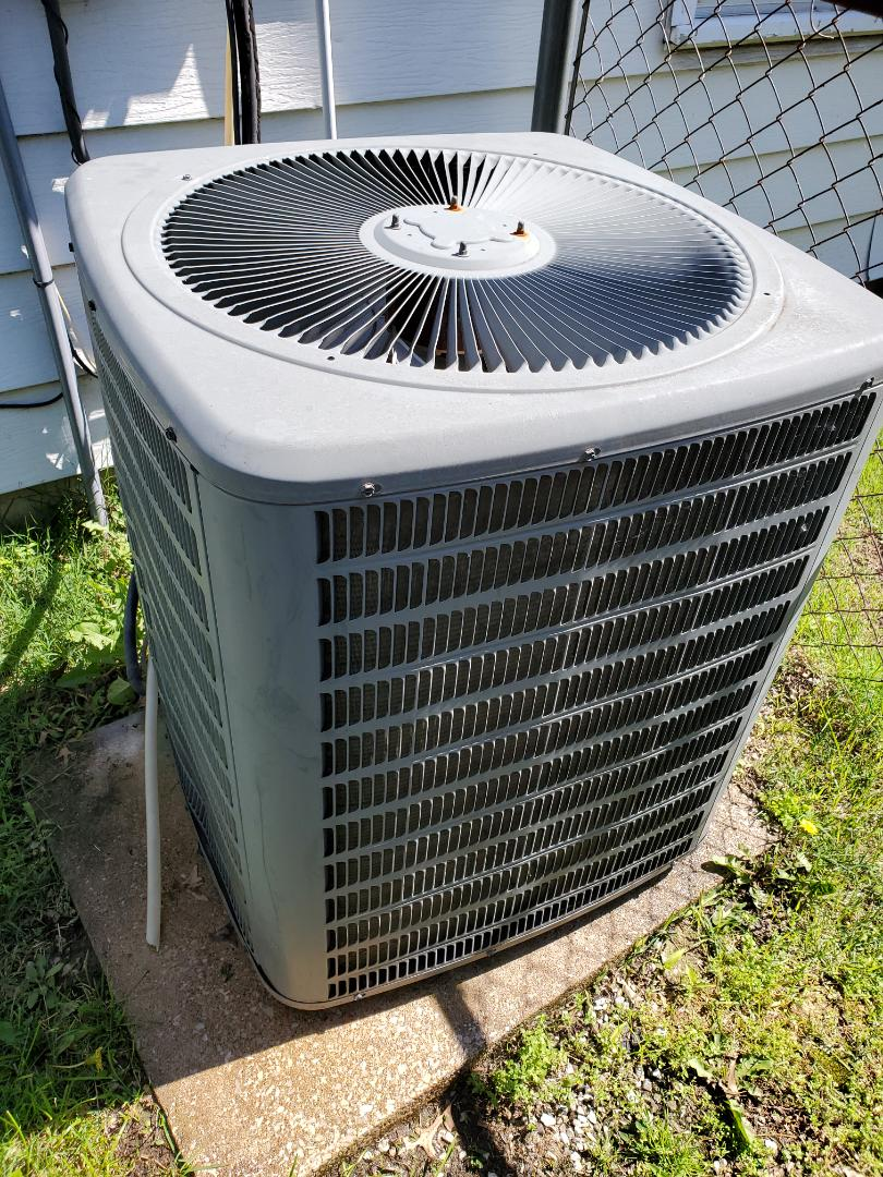 Annual  spring service on a Goodman air conditioning system.