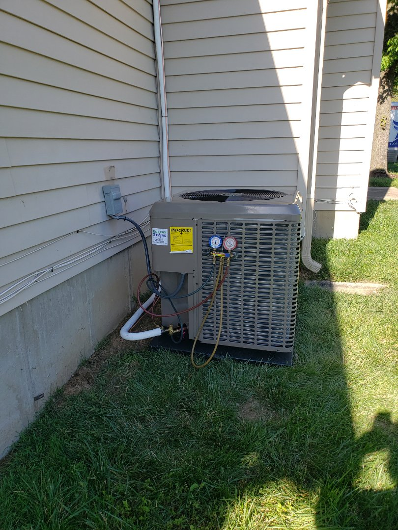 Finished installing a new furnace and air conditioner