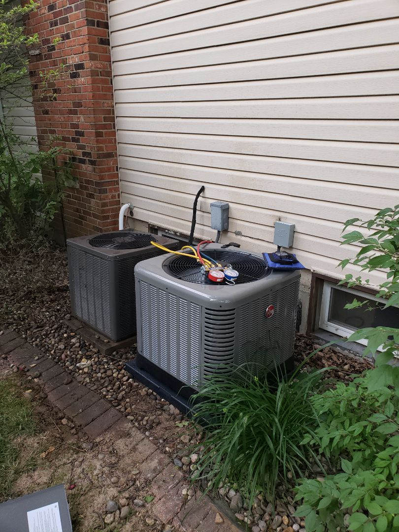 Finished installing a new air conditioner and furnace