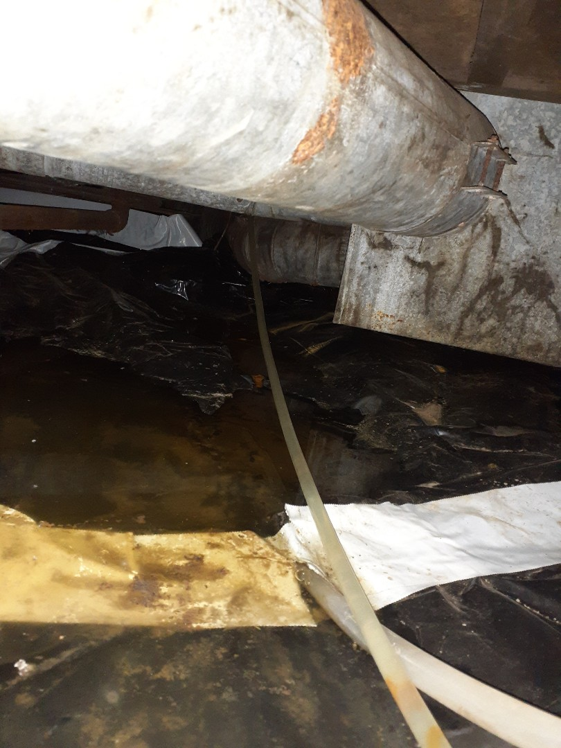 Working in a crawl space