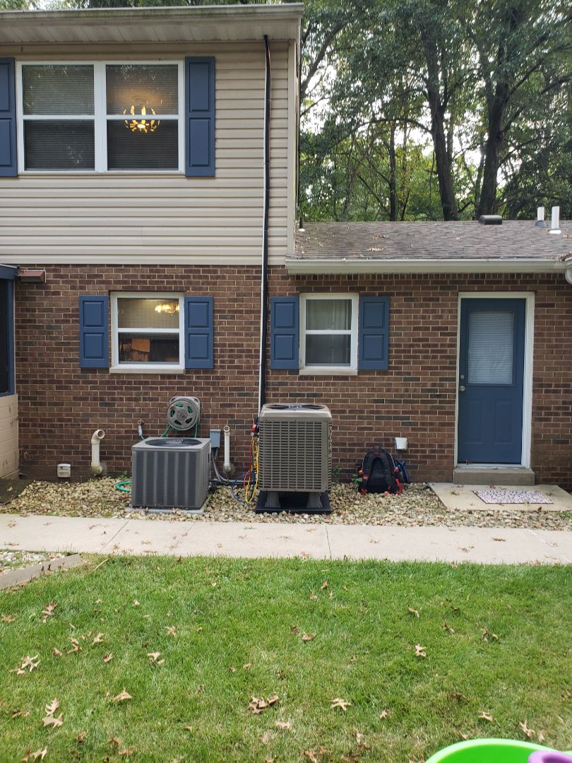 Belleville, IL - Finished installing a high efficiency heat pump and air handler