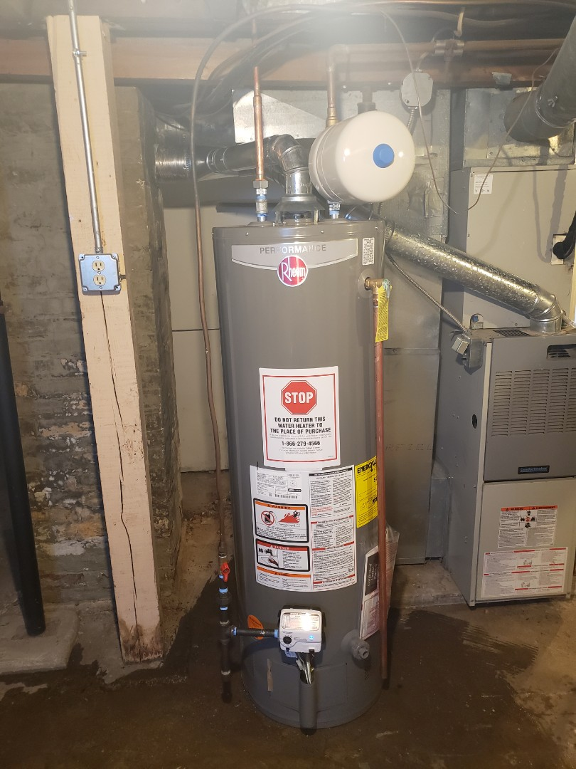 Replaced a natural draft water heater