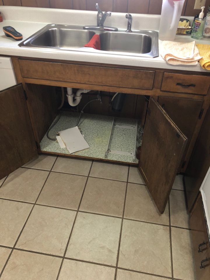 Grand Bay, AL - Water damage under sink