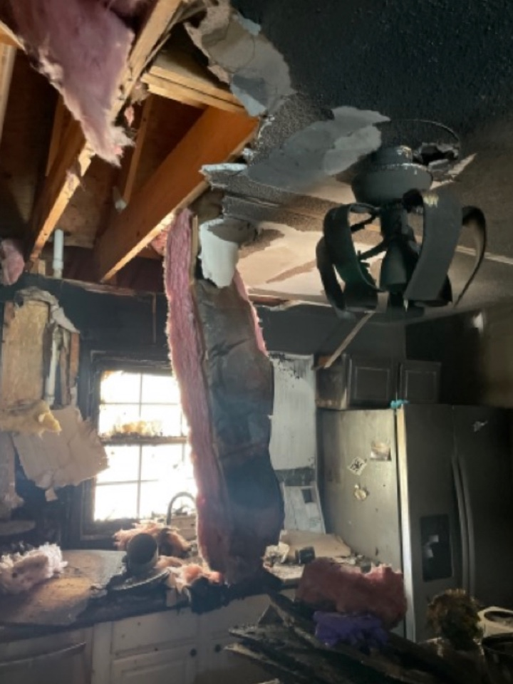 Madison, AL - Fire damage