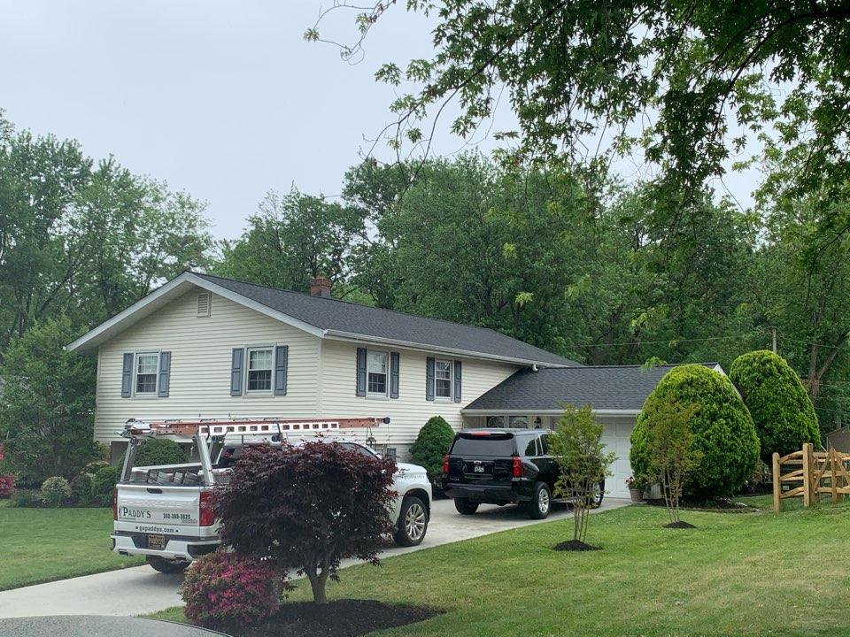 Wilmington, DE - Roof Replacement - HDZ Timberline HDZ 50 year lifetime Charcoal shingles with custom bent black chimney counter flashing