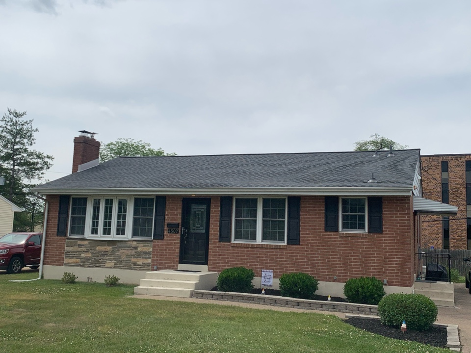 Wilmington, DE - Roof replacement - GAF HDZ 50 year lifetime Pewter Gray shingles with custom bent chimney counter flashing and painted pipes/vents to match the roof