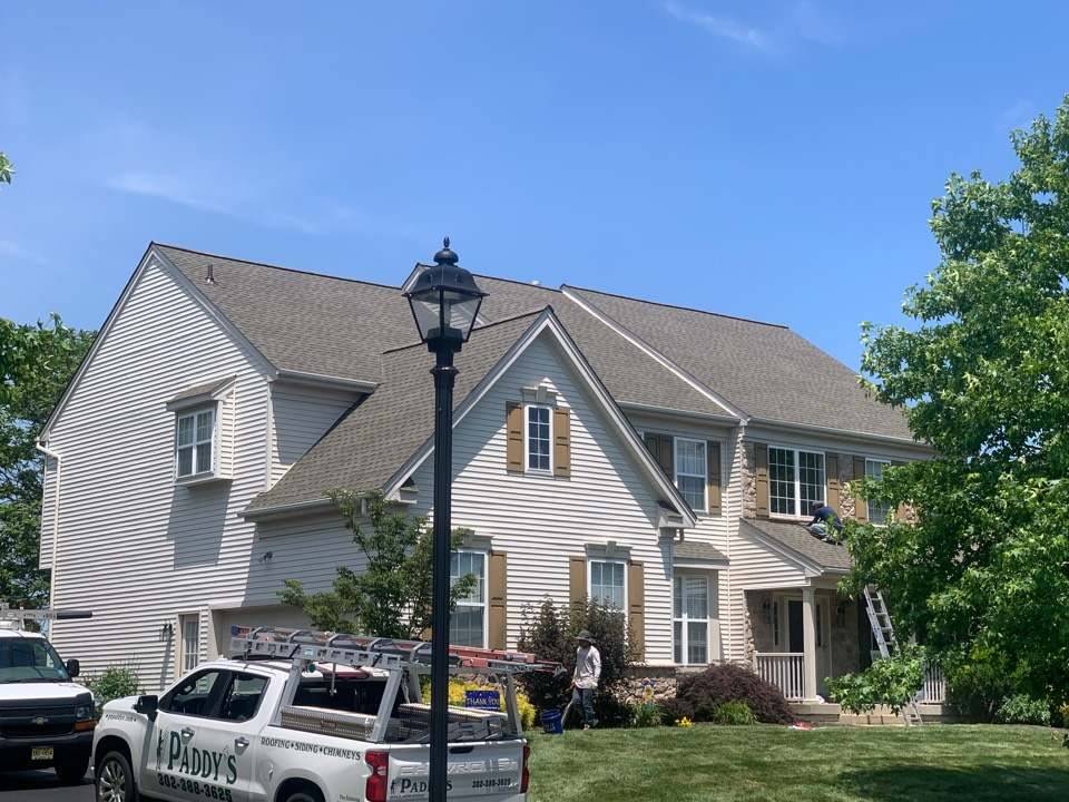 Avondale, PA - Roof replacement - GAF Timberline HDZ 50 year lifetime Weather wood shingles with painted pipes/vents to match the roof