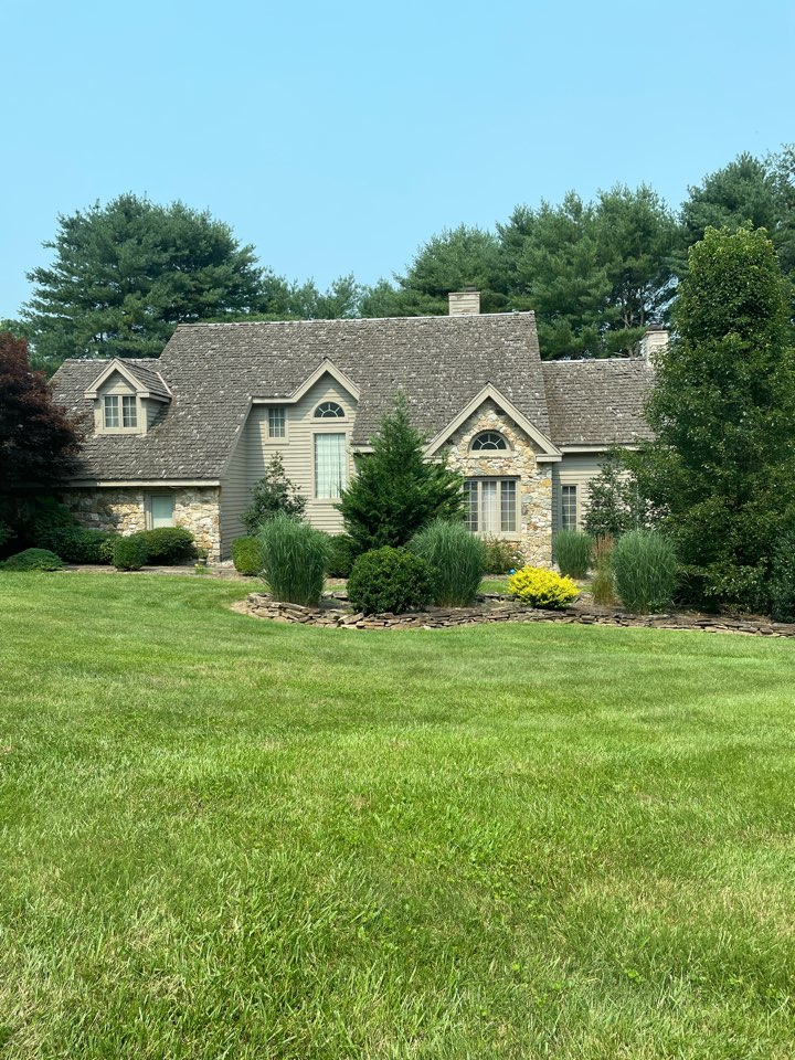 Landenberg, PA - Free estimate to paint exterior of home. Also to replace cedar shake roof and install gaf timberline dimensional shingles. Window replacement