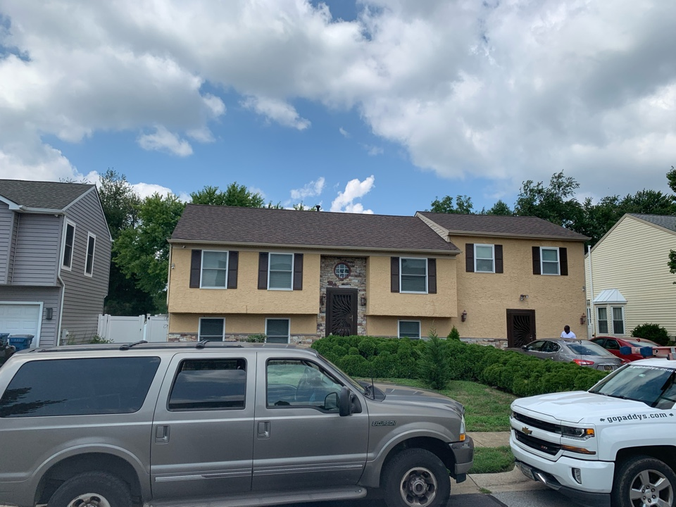 New Castle, DE - Roof Replacement - Dual Brown IKO Cambridge 3 dimensional Shingles with painted to match pipes / vents