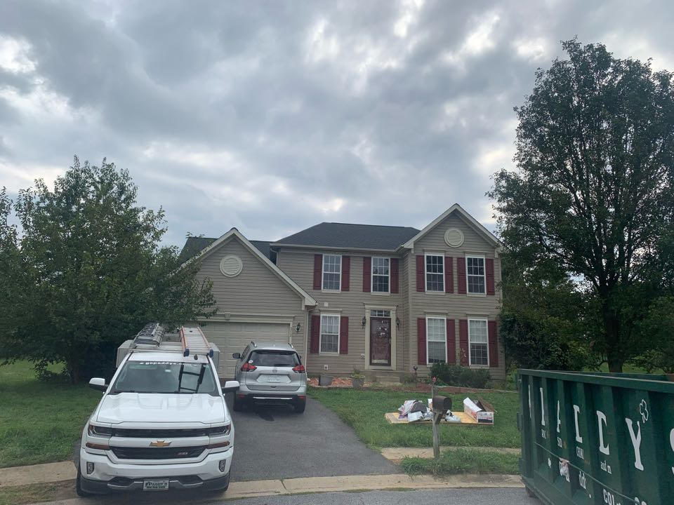 Bear, DE - Roof Replacement - GAF Timberline HDZ 50 year lifetime Charcoal shingles with painted exhaust pipes to match