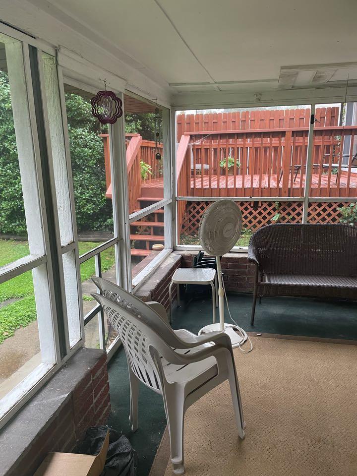 Claymont, DE - Screen porch repair and brick wall rebuild