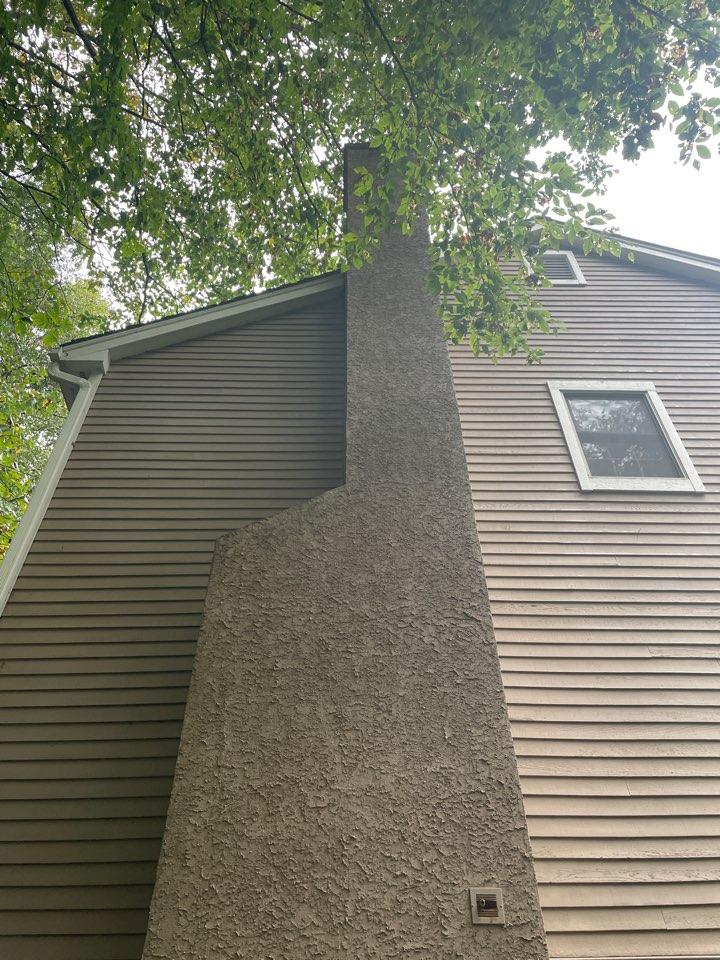 Landenberg, PA - Chimney repair stucco
