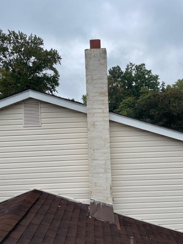 Wilmington, DE - Stucco Chimney rebuild and roof chimney  flashing