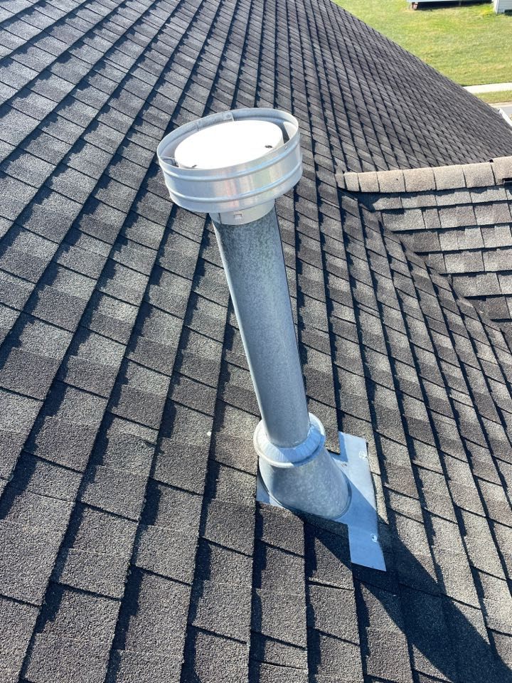 Newark, DE - B vent repair on roof from ac unit. Replace 3 pipe collar flashing kits