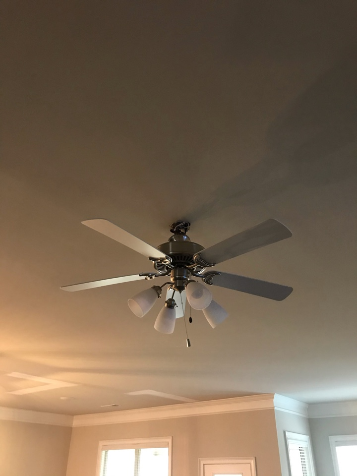 Cumming, GA - Installation of ceiling fans and flat screen TV outlet boxes