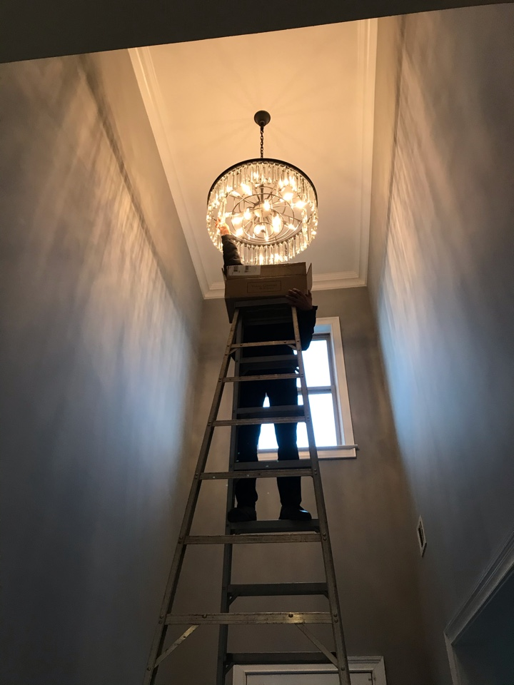 Cumming, GA - Installation of wiring for new light fixtures in new locations