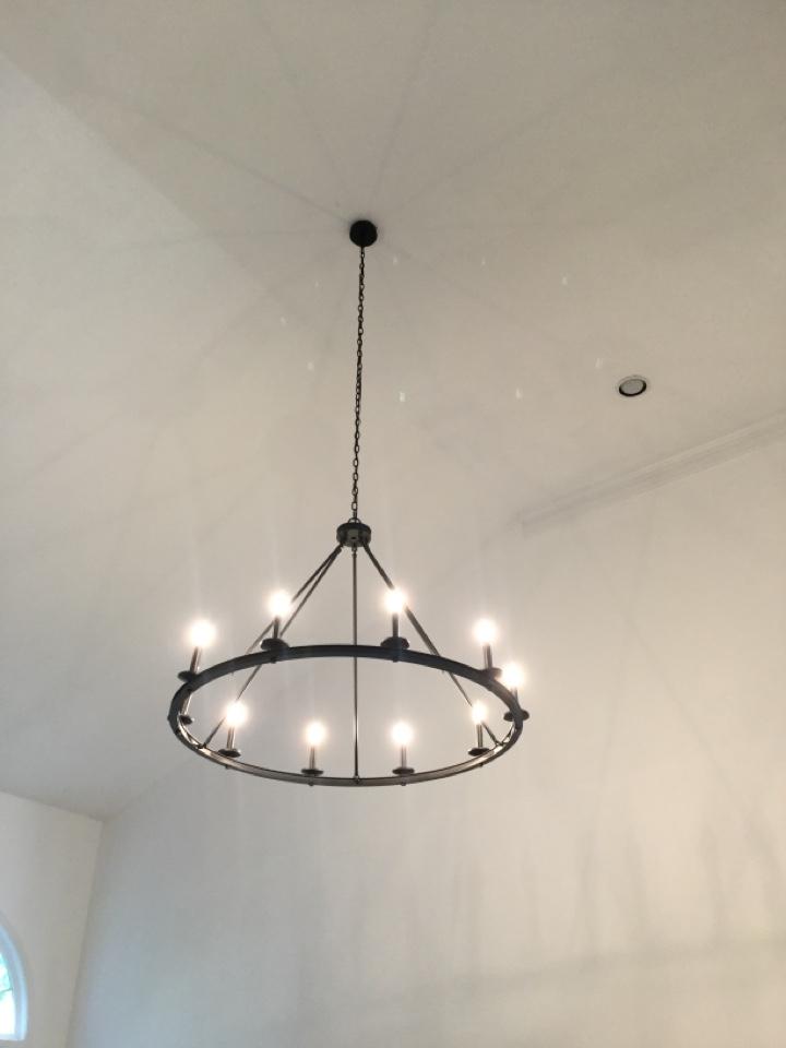 Hanging high chandelier