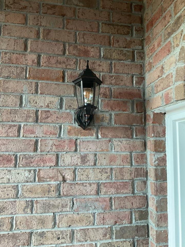 Alpharetta, GA - Replace a customers front door fixture that quit working
