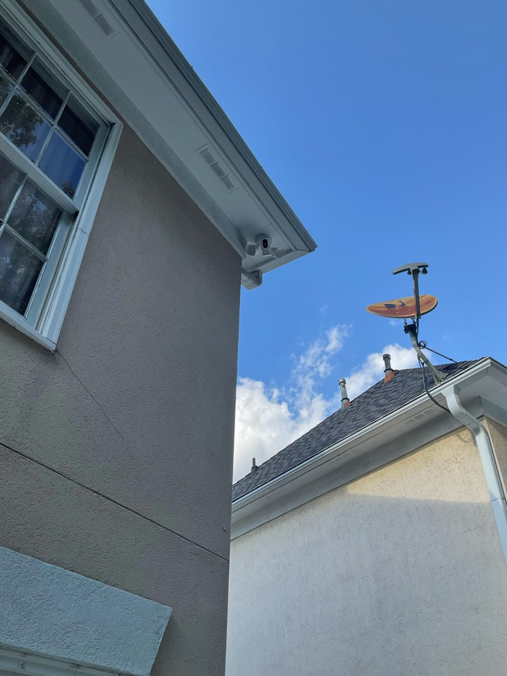Installing high camera flood light and various other new upgrades in home