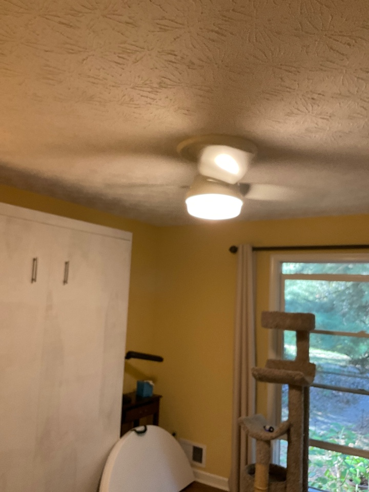Snellville, GA - Installing ceiling fan and weather resistant gfci