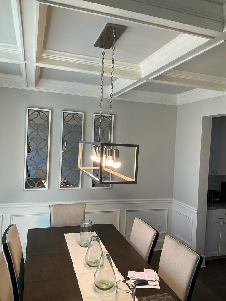 Replacing medium chandelier