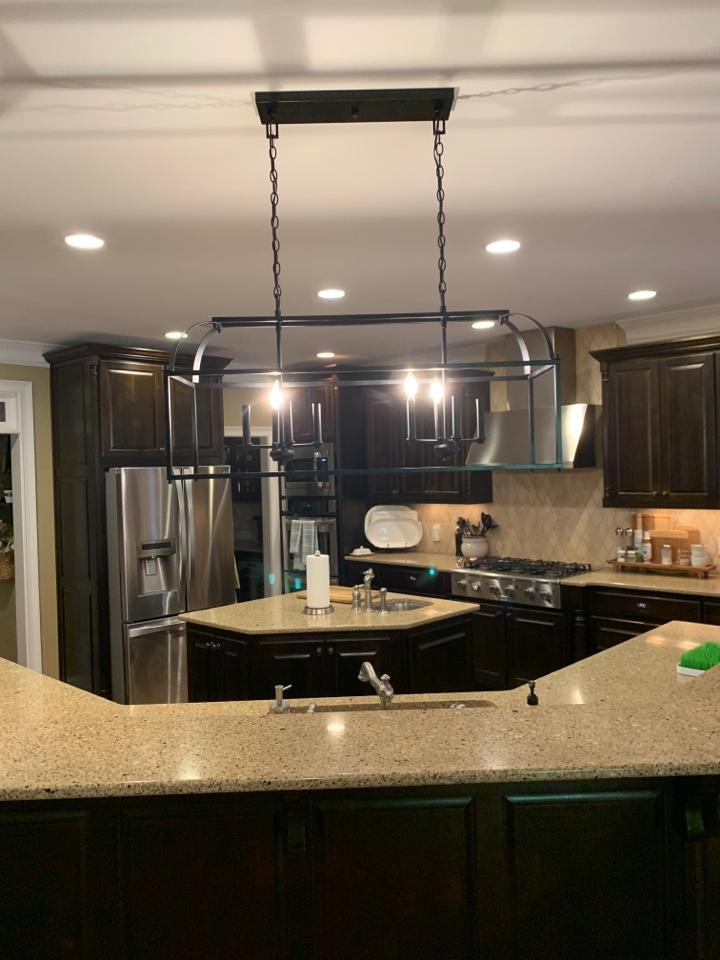 Installing pendants in kitchen