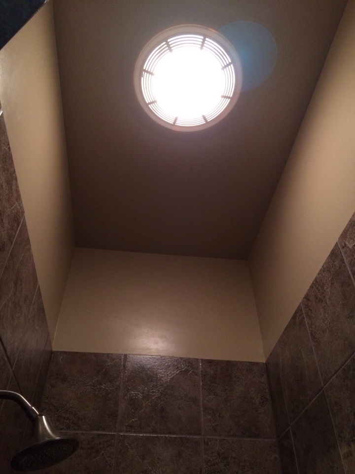 Installing a bath vent fan/light combo in bathroom.