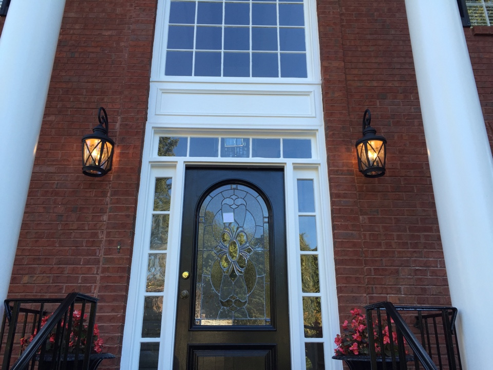 Johns Creek, GA - Replace out door lights at door ways. Install whole house surge protector.  Install wiring for new carbon smoke combo. Replace existing smoke detectors.  Replace non Ul listed breakers. Install weather resistant GFCI. Install weather proof bubble cover. Install GFCI outlet in garage.  Install 8 junction boxes and replace 14-2 Romex wires that were damaged by squirrels in the attic.  In Seven Oaks subdivision