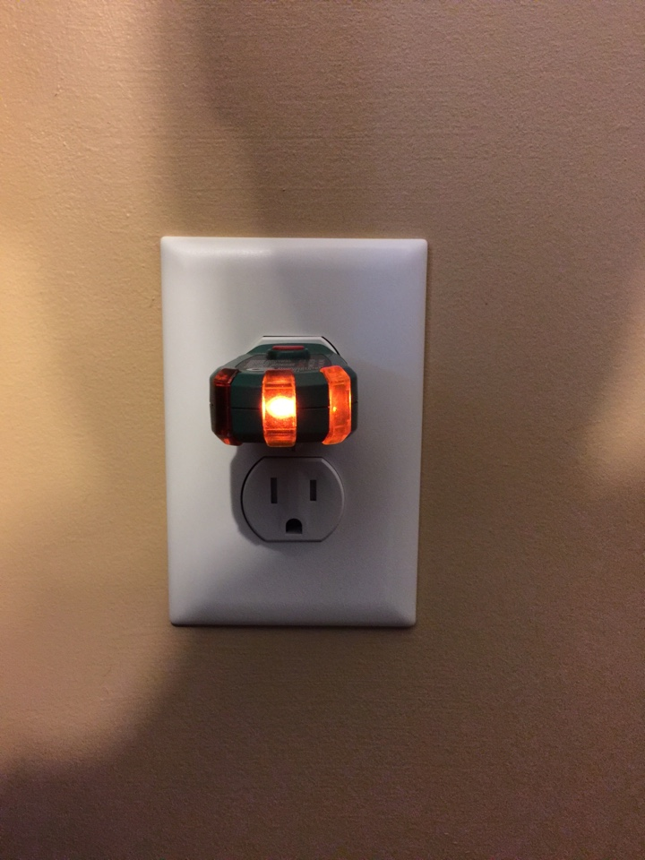 Ball Ground, GA - Outlet repair.  Outlets in living room stopped working. After diagnosis found outlet was burnt.  Replaced 15 amp tamper resistant outlet now lights and receptacles work.  Performed electrical inspection.  Replaced GFCI that does not reset.  Replaced GFCI with self testing tamper resistant GFCI.  Installed whole house surge protector.  In The Villas of Bethany Manor Subdivision.
